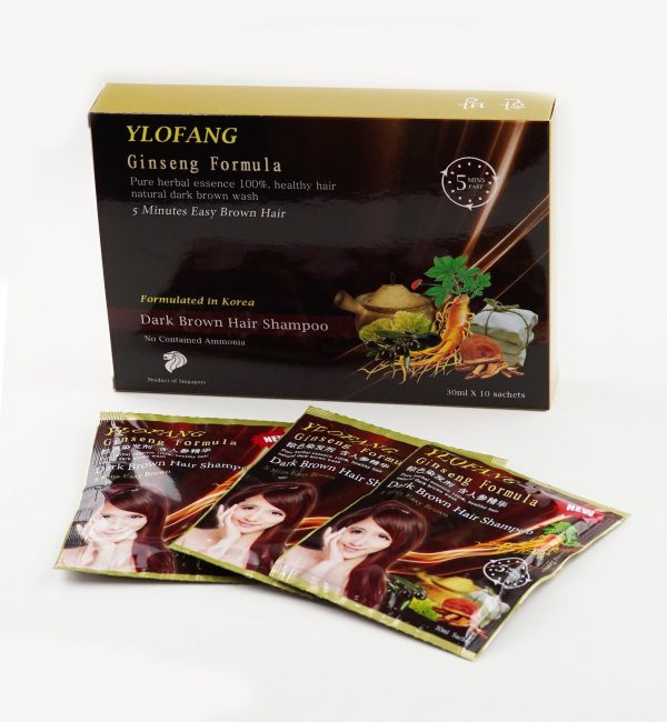 ylofang brown hair dye sackets with box
